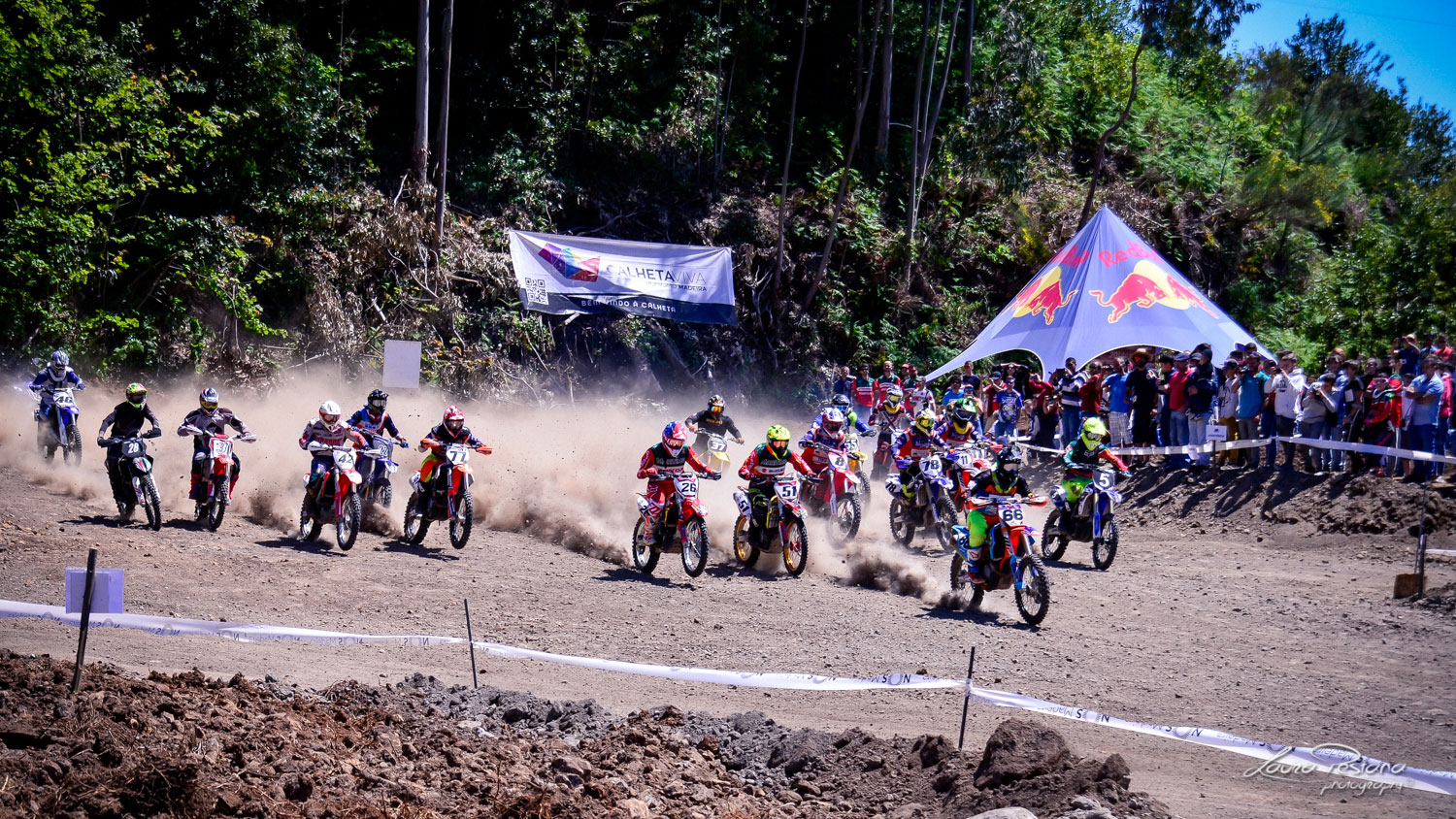 A Motocross Race Starting