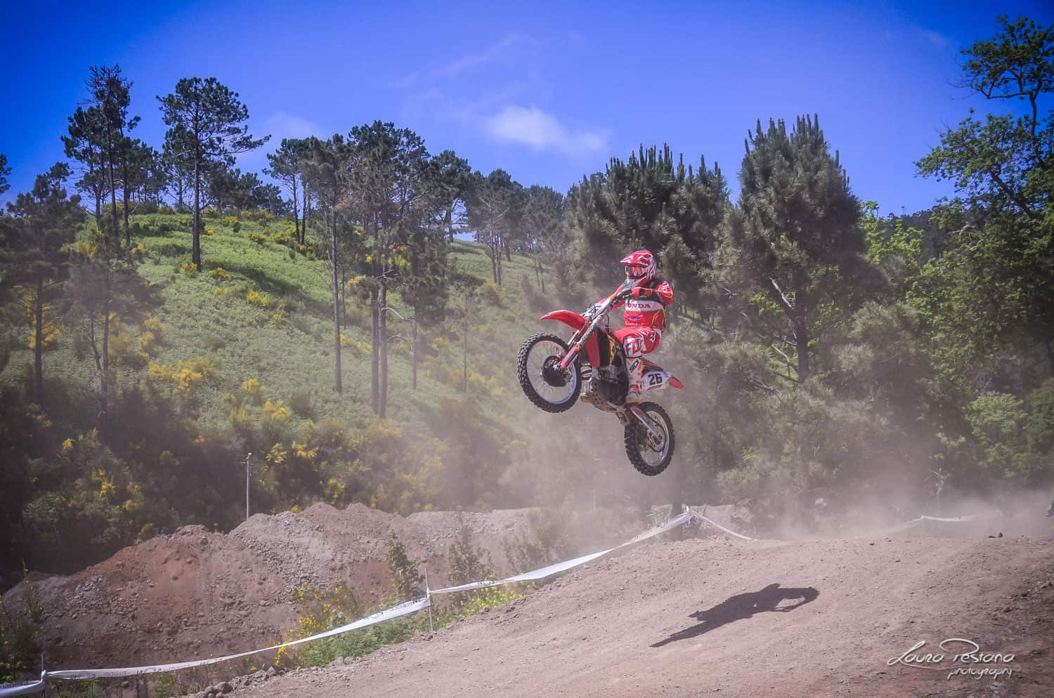 A Rider jumping with his bike