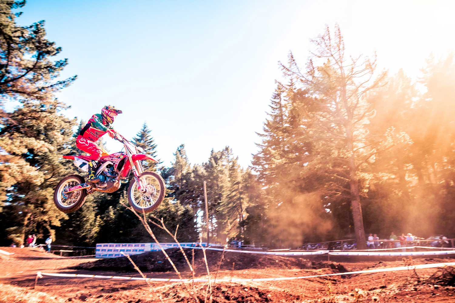 A Rider jumping his Honda CRF 450
