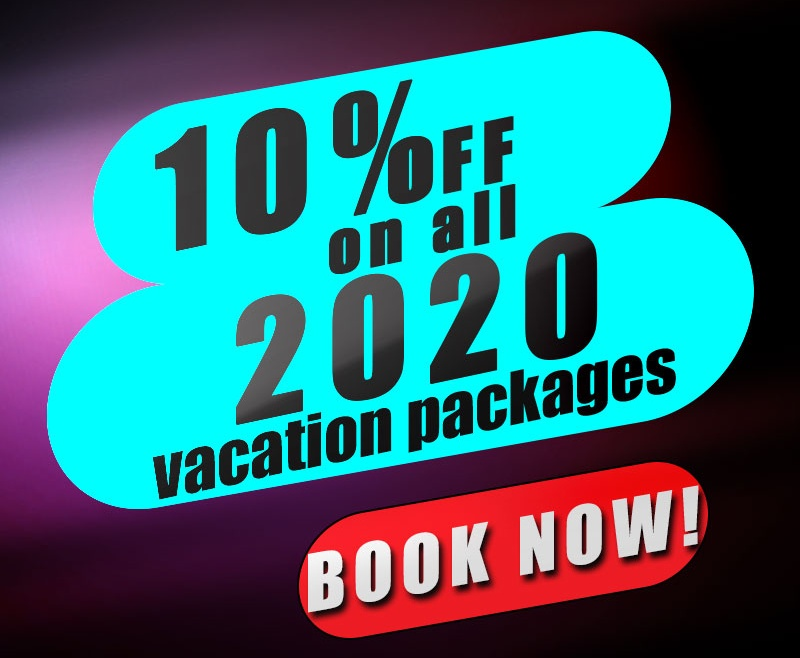 10% Discount on ALL 2020 BOOKINGS
